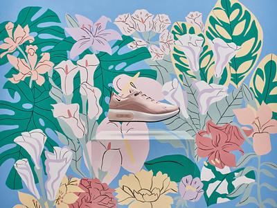 Nike illustrator communication influencing branding muralist fresque sneakers nike anamorphosis brand illustration painting mural
