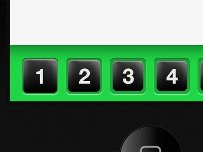 Mobile UI Buttons #2 ui buttons green numbers