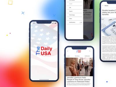 TheDailyUSA News App UI