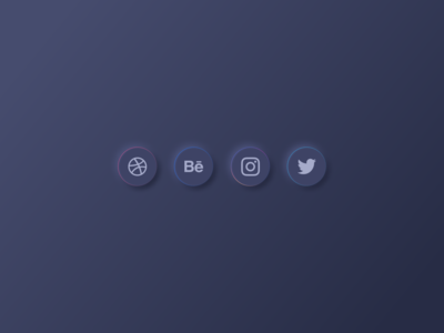 Social Media Dark Mode - Neumorphism