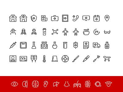 Medical Iconpack 1 icon a day line icon app ui iconography icon set icon