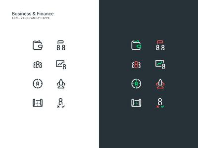 Business & Finance Icon Set