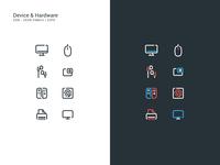 Device & Hardware Icon Set