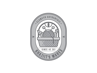 Khajiit's Wares vector illustration logo game scrolls elder skyrim