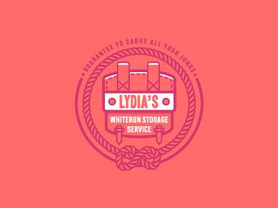 Lydia's Storage Service vector illustration logo game scrolls elder skyrim