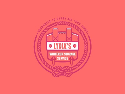 Lydia's Storage Service vector illustration logo game scrolls elder skyrim