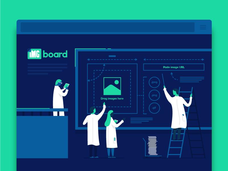 IMGboard Landing Page
