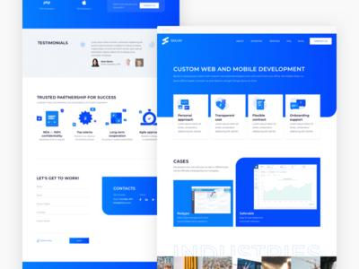 Skilum website redesign