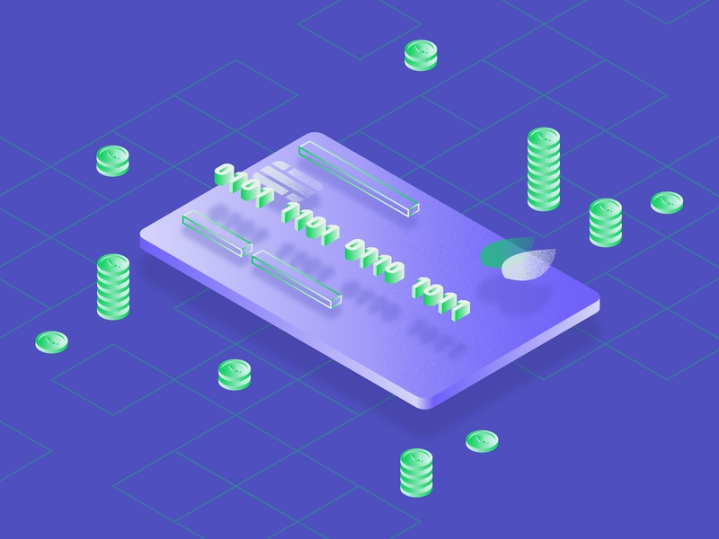 Banks and Finance mongodb money isometric illustration coins credit card finance banking