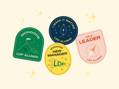 New manager stickers patches wilderness flat sparkles summer camp camping mongodb outdoors stickers badges camp