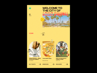 Hometown Landing Page photo emoji california beach long beach texture grain summer warm landing page web design