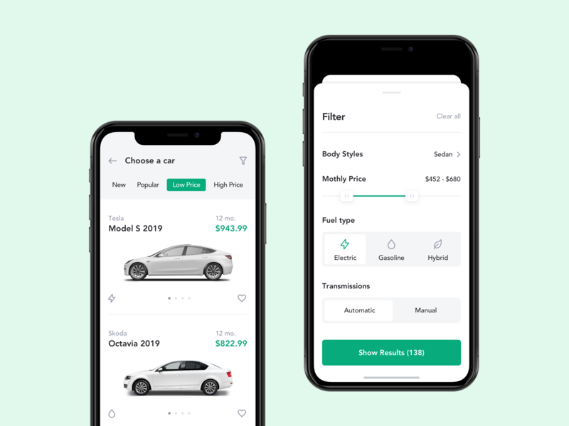 Mobile App for Car Leasing ux ui product design product ios mobile app car automobile rent car rent leasing car leasing b2c b2b transport