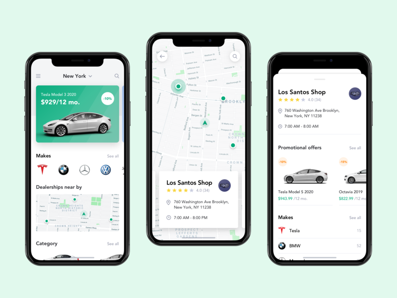 Mobile App for Car Leasing - Pt.2 ui ux transport product design product mobile app rent car rental map leasing ios car leasing car b2c b2b automobile