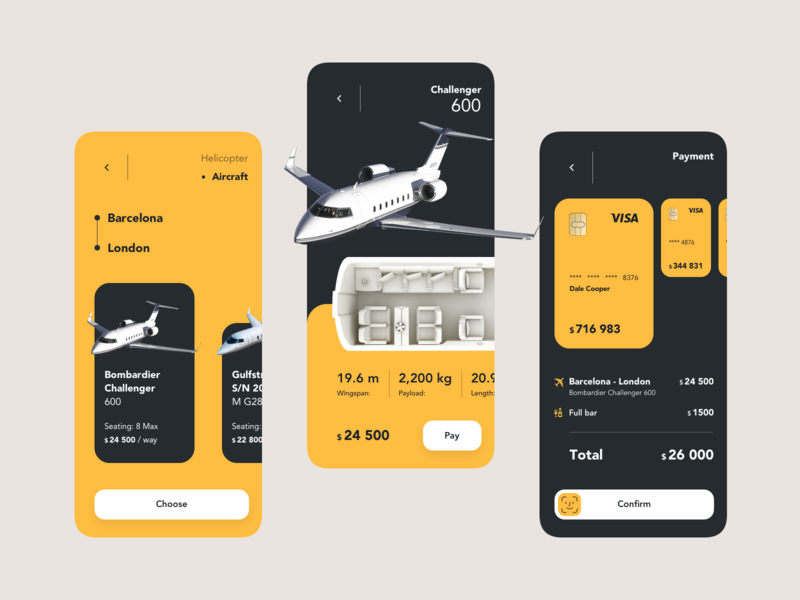Private aircraft rental app concept airplane aircraft jet air rental rent uiux inspiration dribbble concept ui design layout ux design ui ux design