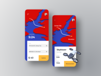 Flying Taxi App Concept