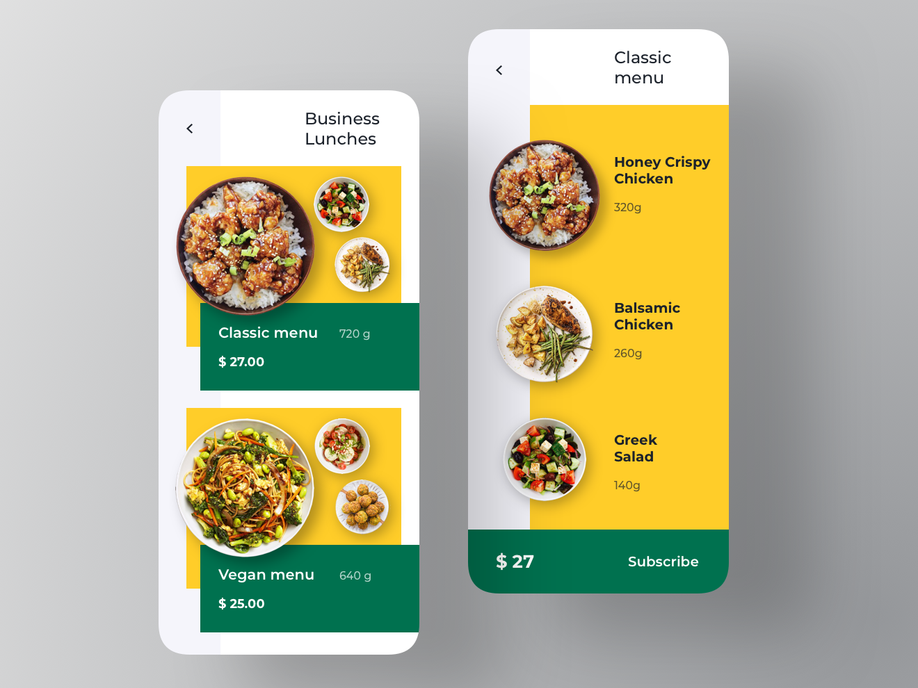 Business Lunch Subscription Concept App
