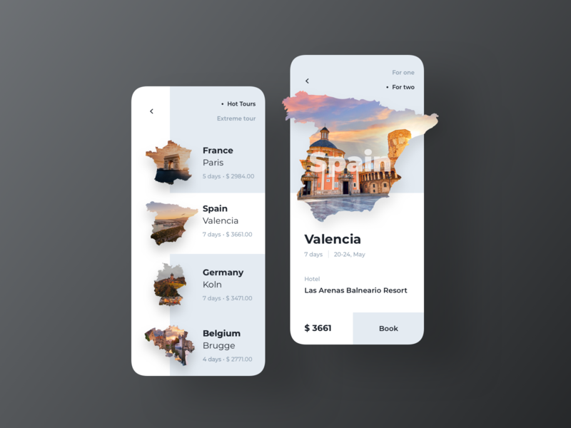 Travel App Concept tour travel app travel uiux layout ui design concept dribbble inspiration design ux design ui ux