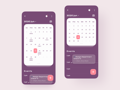Meeting Schedule Mobile App efficiency productivity concept event calendar manage scheduler schedule meeting dark ux mobile interaction android interface app ios design ui