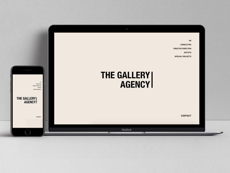 The Gallery Agency website minimal website minimalist ux typography type web grid responsive website responsive web design webdesign minimalism minimal
