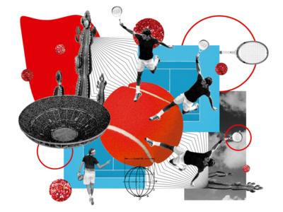 Collage Roger Federer collage illustration design art art design photo photoshop roger federer federer tennis tenis zverev tennis player player sport sports