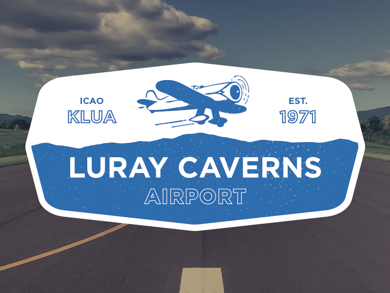 Luray Caverns Airport badge aviation airport