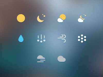 Final Icons forecast dark sky weather icons