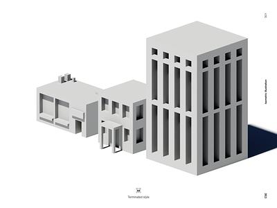Isometric illustration identity brand atlanta illustration light 3d