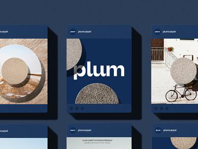 Plum Carpet system expression system design brand identity logotype branding