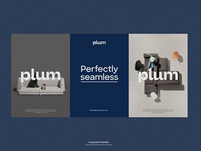 Plum Carpet posters logotype logo carpet brand branding posters brand identity
