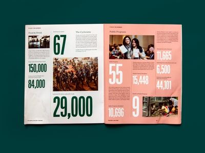 History Matters spread print dynamic grid atlanta type typography layouts