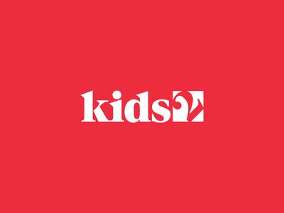 Kids2 visual  identity corporate identity atlanta red bold wordmark logo wordmark identity brandmark