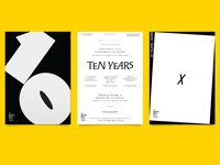 3 posters for 10 years 💛
