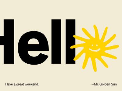 weekend 🌞