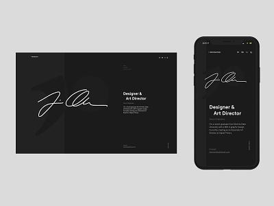 Design Portfolio digital design digital desktop mobile webflow portfolio web website ux ui design minimal