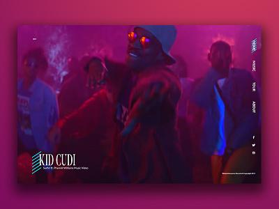 Kid Cudi Website Redesign minimal ux ui home page music website