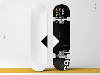 Voting Deck (two/five) typography type skateboard print pattern minimal icon design campaign