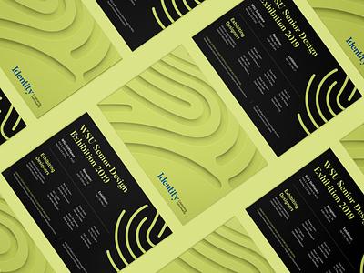 Identity Show Mailer minimal fingerprint print mailer exhibition design branding