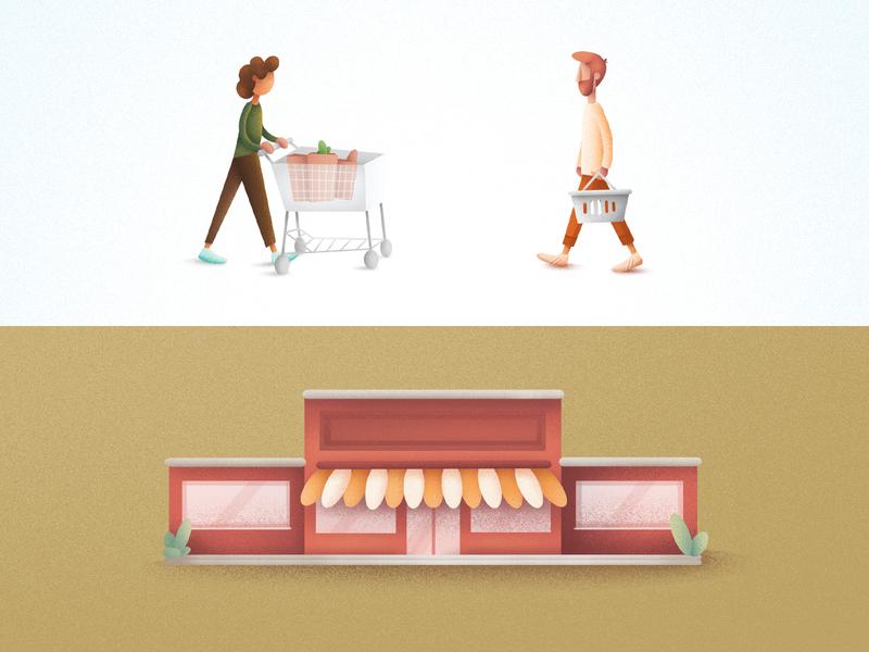 Grocery Icon Illustrations icon design illustration