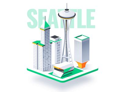 Isometric Cities 3d design dmit miami washington illustration chicago seattle san francisco city