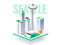 Isometric Cities 3d design dmit miami washington illustration chicago seattle san francisco city
