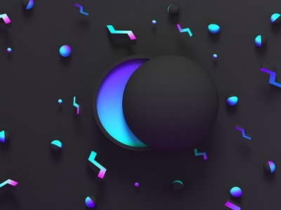 Abstract concept for cover. Glowing elements. dmit violet cover glow black wallpaper surface style shape rendering digital 3d