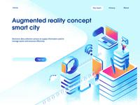 Smart city landing page concept