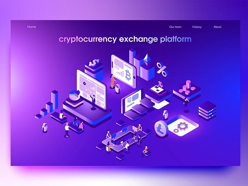 Crypto exchange dmit web site page mining landing wallet interface design currency crypto bitcoin
