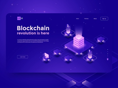 Blockсhain revolution dmit web site page mining landing wallet interface design currency crypto bitcoin