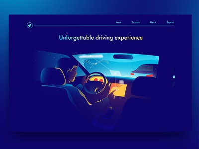 Driving Assistant illustration dmit route navigation gps driver car assistant driving