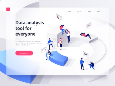 Isometric data dmit working people illustration 3d dudes isometric collaboration characters