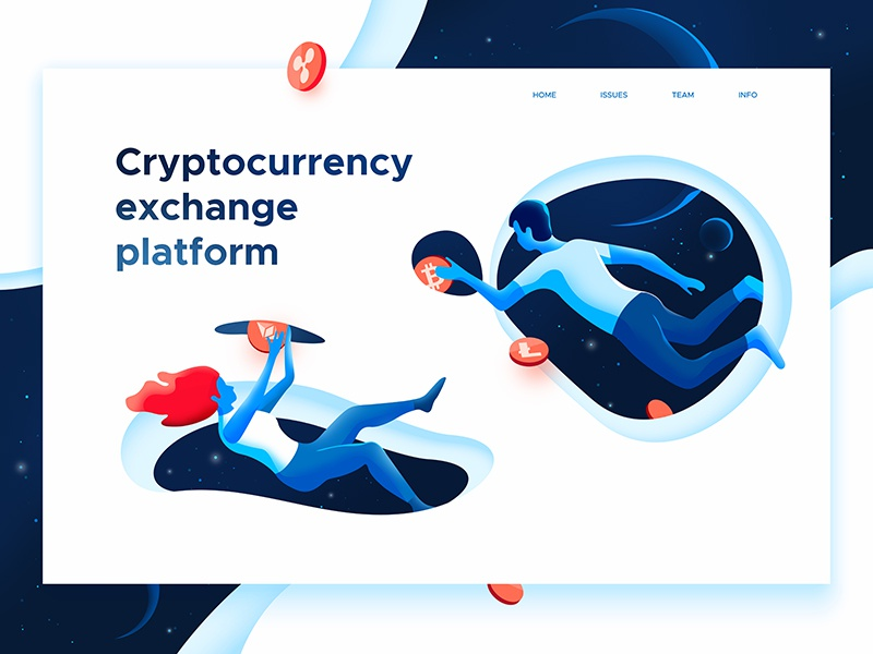 Crypto portals exchange web mining landing dmit design currency crypto bitcoin portals space