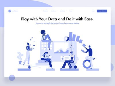 Dudes having fun concept dmit characters abstract flat design illistration dashboad data game people
