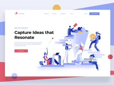 Idea generator landing page vector collaboration concept ui collect ideas design dmit characters people illustration