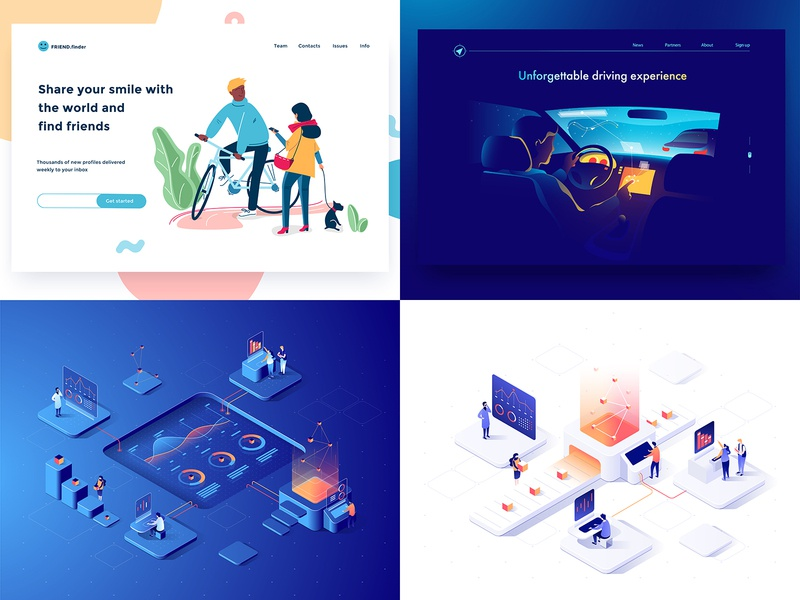 2018 charachters isometric people 3d design illustration top4 dmit